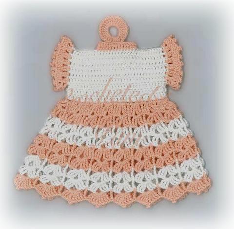 Free Crochet Pattern Dress Potholder : DRESS POTHOLDER CROCHET ? CROCHET PATTERNS