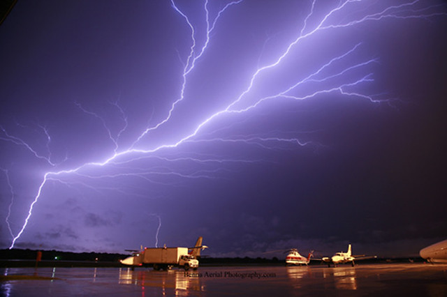 Lightning at the Ankeny Airport