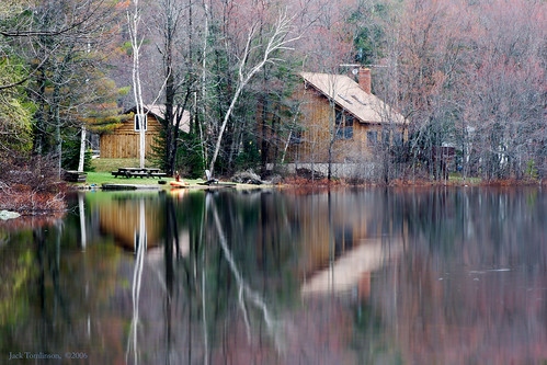 usa ny reflection rural landscape cabin adirondacks pastoral stonerlake