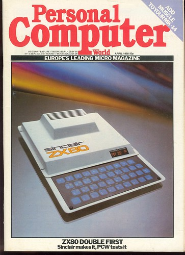 ZX80 on the cover of Personal Computer World April 1980