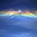 Partial rainbow in the clouds
