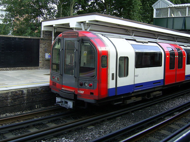 Central line train at Snaresbrook tube station | Flickr - Photo ...
