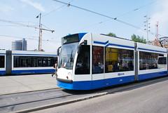 Tram op Amsterdam CS