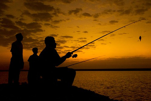 Fishing - Silhouette