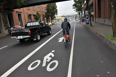 Hawthorne bike lane -1