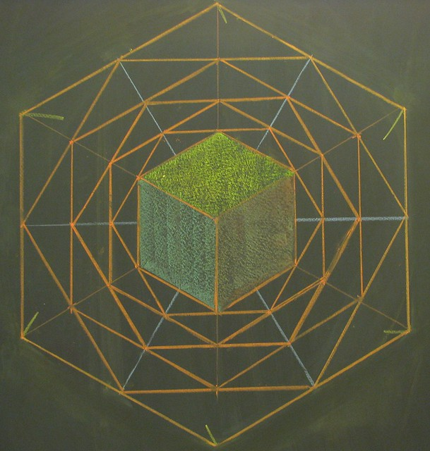 Cube, Hexagon, Angles from a Circle