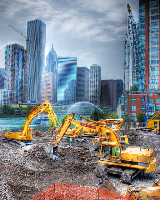 Chicago Spire breaking ground: II