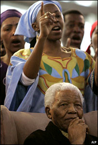 Former South African President Nelson Mandela at a large Soweto shopping mall that opened on September 27, 2007. by Pan-African News Wire File Photos