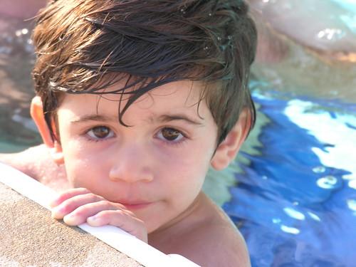 Jordan poolside