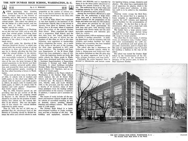 The New Dunbar High School in Washington, DC - Crisis Magazine, March, 1917