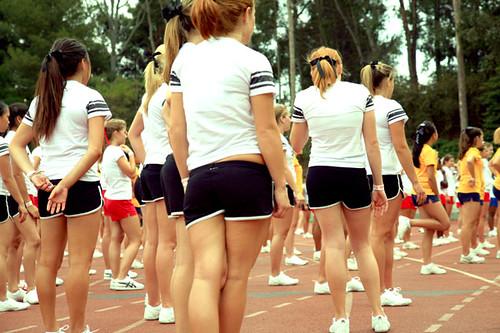 Cheerleader und Trainer Nacktbilder