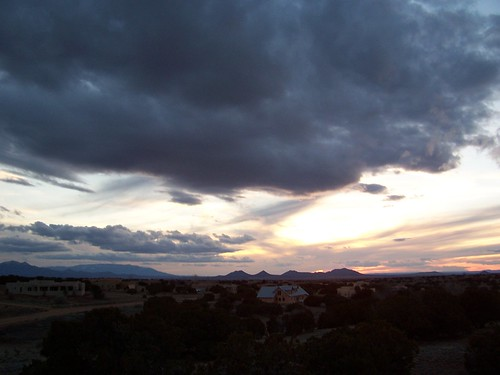 sunset sky sun mountains newmexico clouds sunrise landscapes skies
