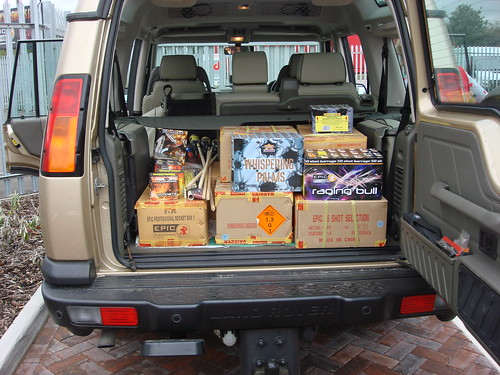 land rover full of pyro