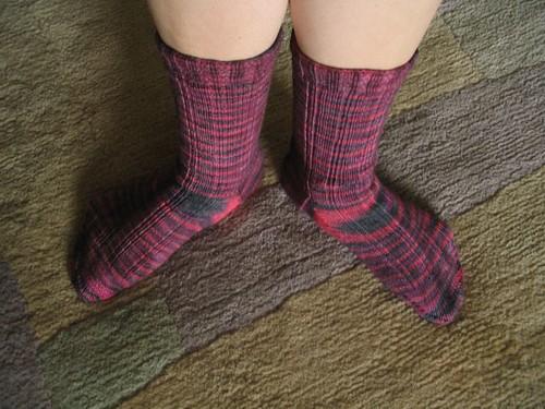 Knitting Vintage Socks Nancy Bush : Finished oak rib