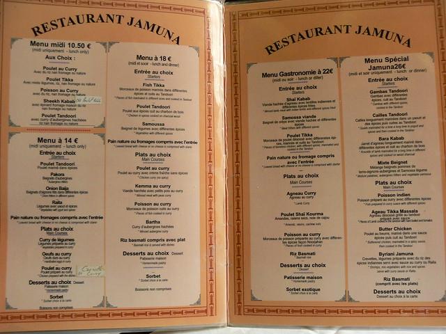 Jamuna Restaurant Indien Paris
