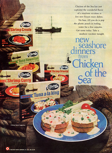 Chicken of the Sea, Seashore Dinners, 1968