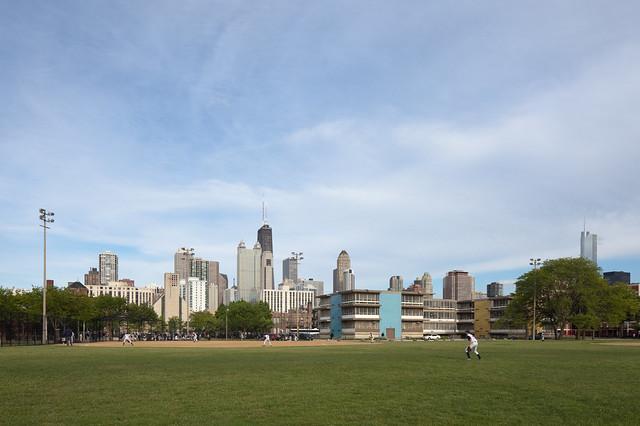 Late Afternoon Baseball, Public Housing, School