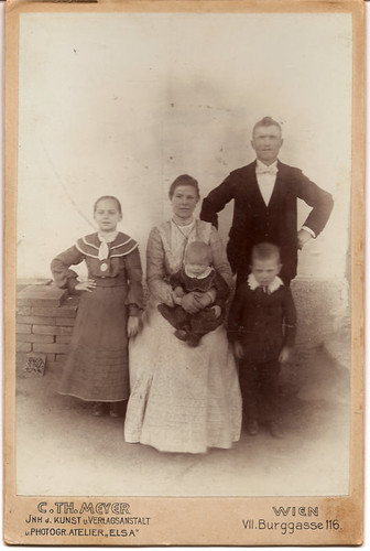 Cabinet Card, Unknown Family, Wien