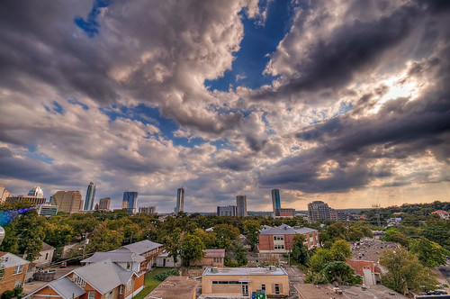 blue sky cloud skyline clouds buildings austin landscape nikon downtown cityscape texas austintexas hdr tonemapping d5000 cityofaustin austinhdr topazadjust 1024mmf3545 nikond5000 johnmaffei