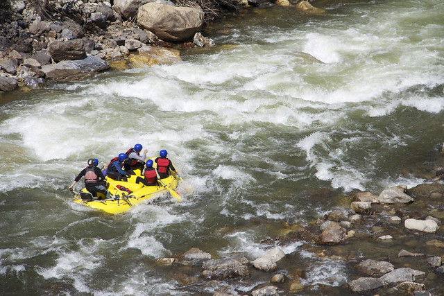 Rafting on the Paro Chhu