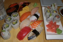 meal, lunch, sashimi, california roll, fish, sushi, food, dish, cuisine, asian food,