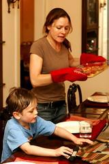joslyn delivering her squash lasagna    MG 2636