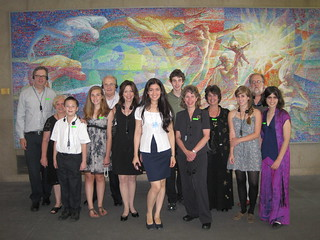 Prof. Al Kritzer's immediate family at a private guided tour of the United Nations on June 24, 2010