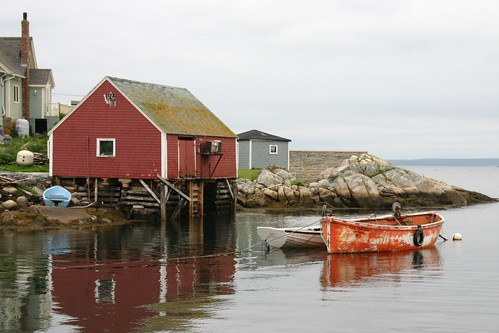 Boats in Peggy's Cove