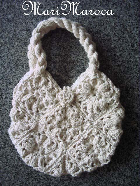 Bolsa De Mão Em Crochet : Bolsa de crochet m?o feita com