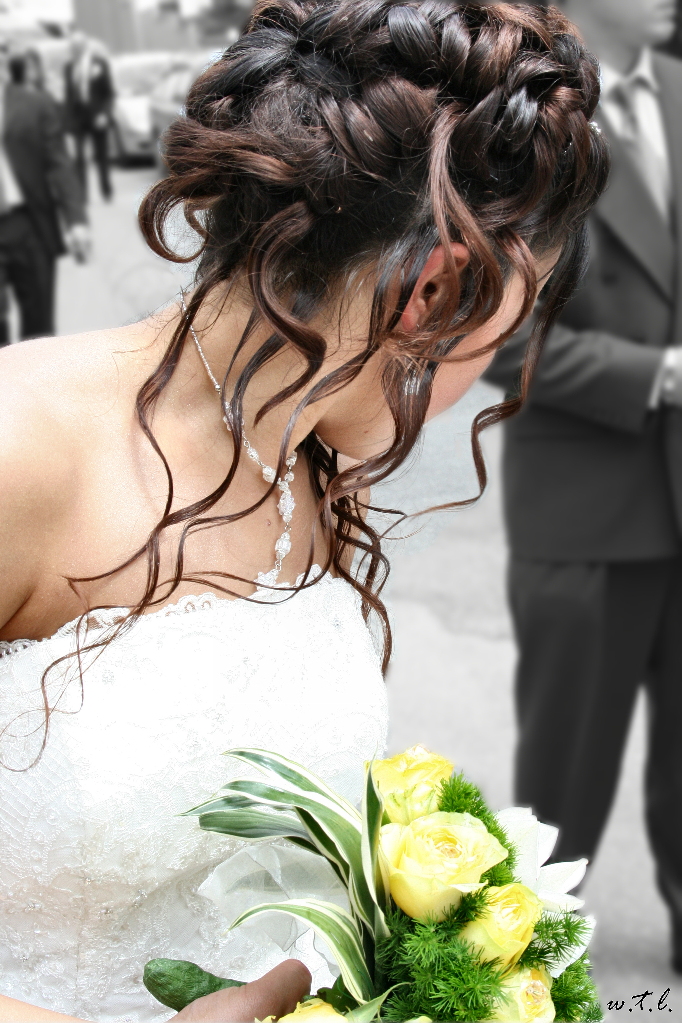 black wedding hair styles