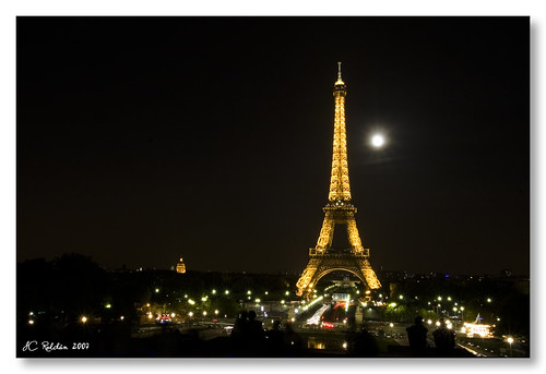 full moon over Paris
