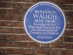 Photo of Benjamin Waugh blue plaque