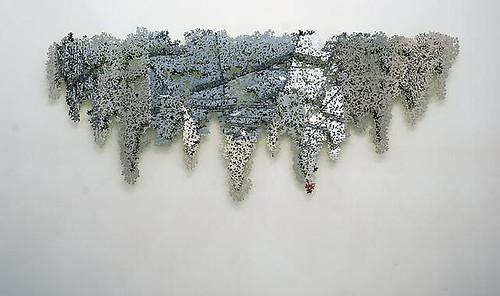Teresita Fernandez- Portrait (Blind Landscape) 2008 polished precious-cut stainless steel and enamel  by www.admsp.org