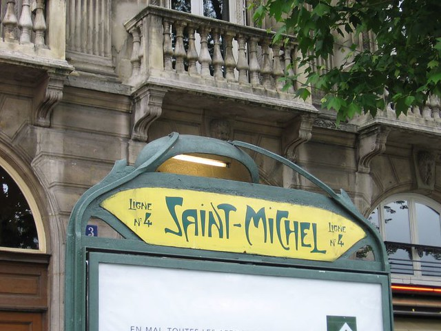 0170 saint michel metro entrance paris metro by - Saint michel paris metro ...