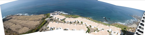 Panoramic from the penthouse balcony