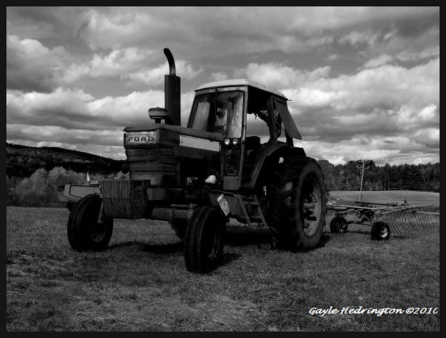 Tractor Black and White | Flickr - Photo Sharing!