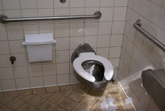 Commode: The new bathrooms at Rio Flats