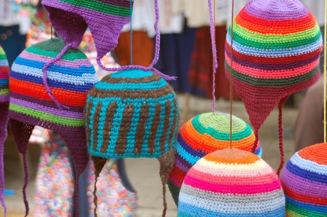 Hats Panajachel Guatemala Market