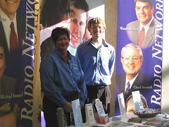 Sean and Rene greet visitors to the BRN Ft. Wayne booth
