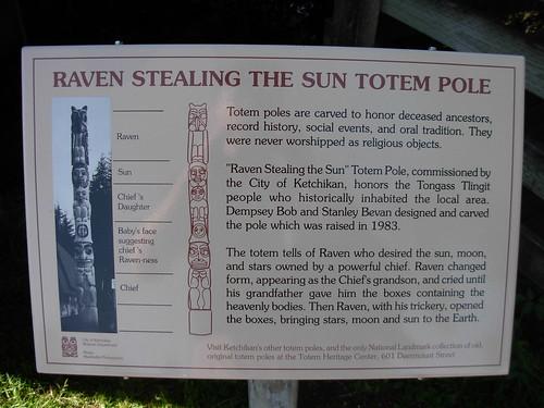 Raven Totem Pole Raven Stealing The Sun Totem