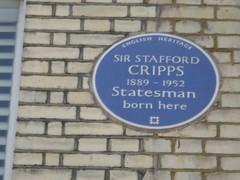 Photo of Richard Stafford Cripps blue plaque