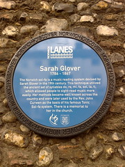 Photo of Sarah Glover blue plaque