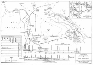 Joint Army & Navy Board Report on Hunter Point - Bay Farm Island Bridge: Locations, Profiles, and Borings (1941)