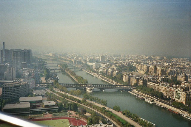 View from Eiffel Tower towards West