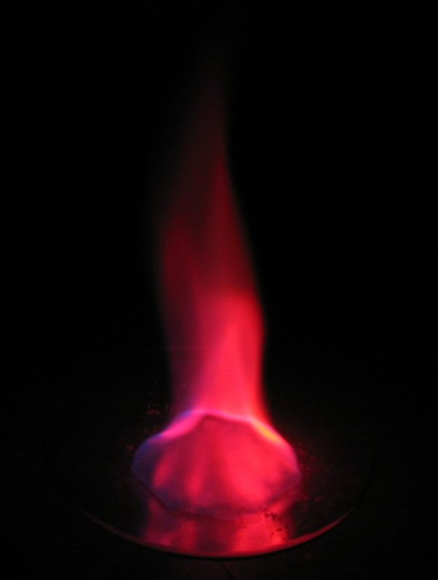 Strontium flame color in methanolStrontium Flame
