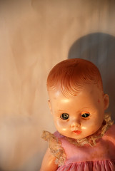 vintage doll head portrait