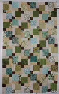 Lap Quilt Disappearing 9 patch