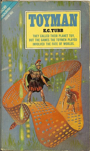 Dumarest Saga Book 3 - Toyman - E.C. Tubb - cover artist Kelly Freas - 1st edition 1st publication