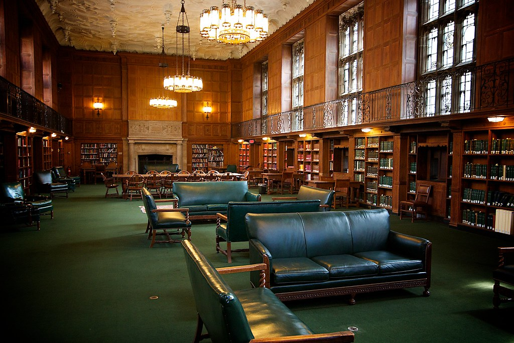 Reading Room at Sterling Memorial Library