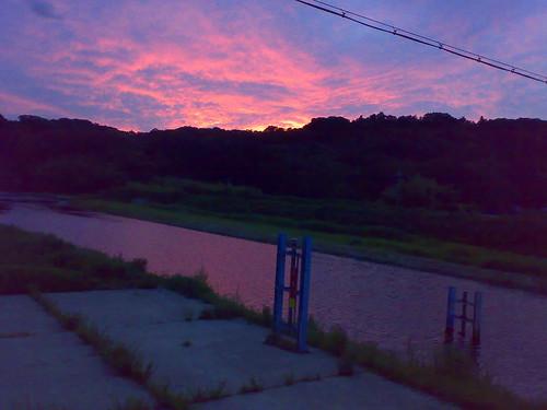 sunset geotagged kobe mukogawa geo:lat=348819728 geo:lon=1352383614